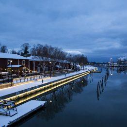 Talvinen kaupunginlahti